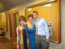 Katherine, me and Sharin after a performance of my new work Instant Conductors