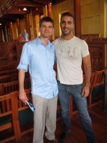 Me and composer friend Filipe Lara