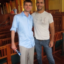 Me and composer friend Filipe Lara