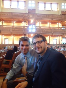 Me and Adam Before a Concert of Our Works!