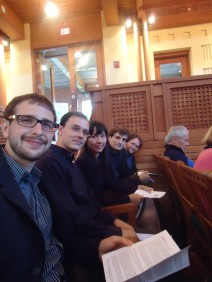 The Composer Fellows (before our arts songs were performed)