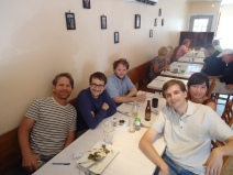 Steve Mackey with the Composers (He took us to lunch!)